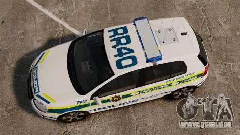 Volkswagen Golf 5 GTI Police v2.0 [ELS] für GTA 4 rechte Ansicht
