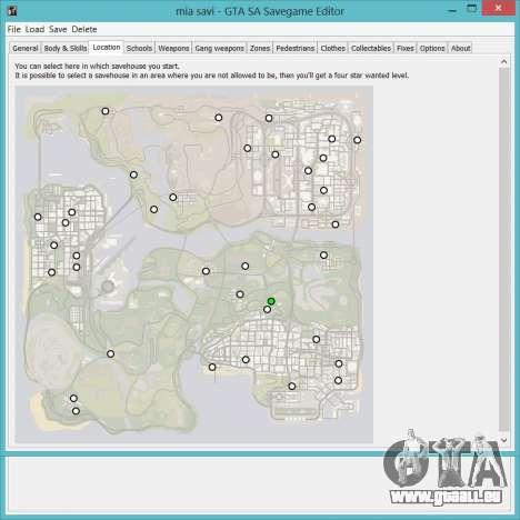 Savegame Editor v3.2 pour GTA San Andreas deuxième écran