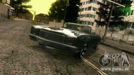 Chevy Monte Carlo pour une vue GTA Vice City de l'intérieur