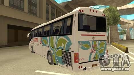 Higer KLQ6129QE - Super Five Transport S 025 für GTA San Andreas Rückansicht