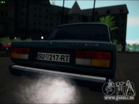 LADA 2107 Riva pour GTA San Andreas vue de droite