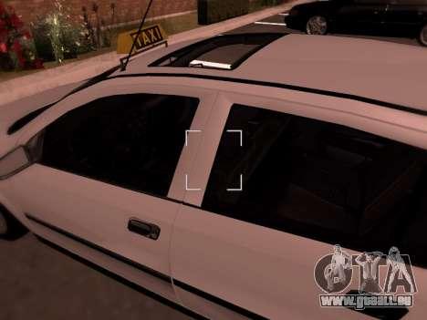 Opel Astra G für GTA San Andreas Unteransicht