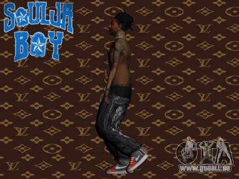 Soulja Boy skin für GTA San Andreas dritten Screenshot
