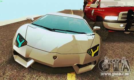 Lamborghini Aventador LP700 für GTA San Andreas rechten Ansicht