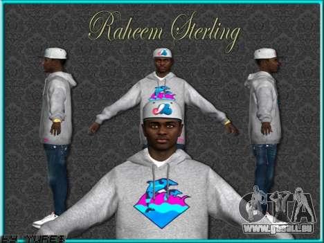 Raheem Sterling skin pour GTA San Andreas cinquième écran