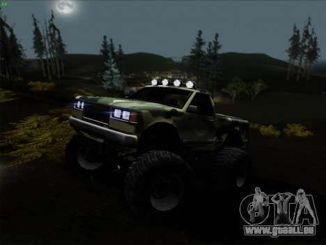 Camouflage pour Monster pour GTA San Andreas vue arrière