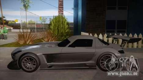 Mercedes-Benz SLS (AMG) GT3 für GTA San Andreas zurück linke Ansicht
