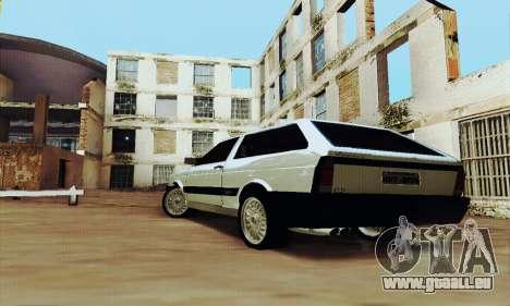 VW Parati GLS 1988 pour GTA San Andreas sur la vue arrière gauche