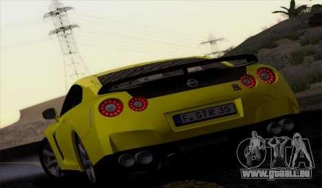Nissan GT-R Carbon pour GTA San Andreas laissé vue