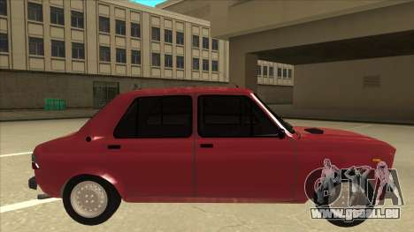 Zastava Skala 55 2013 pour GTA San Andreas sur la vue arrière gauche