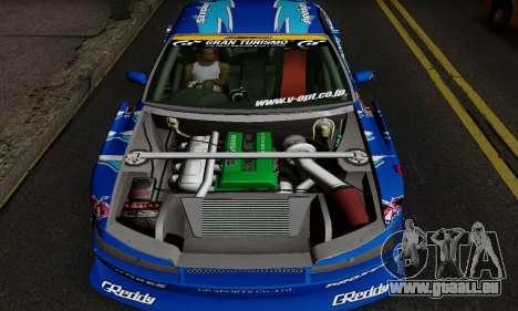 Nissan Silvia S15 Toyo Drift pour GTA San Andreas sur la vue arrière gauche