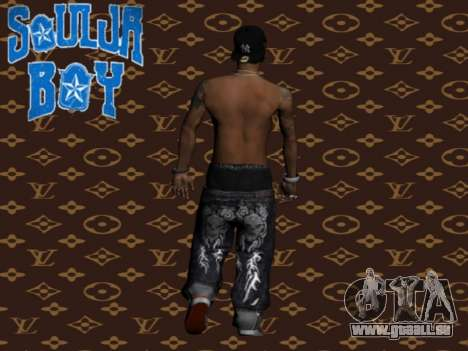 Soulja Boy skin für GTA San Andreas zweiten Screenshot