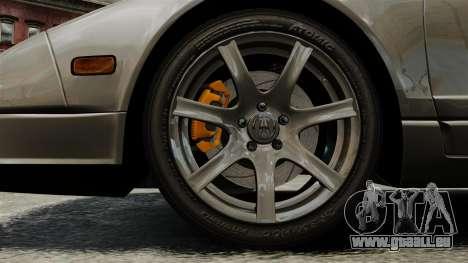 Acura NSX pour GTA 4 Vue arrière