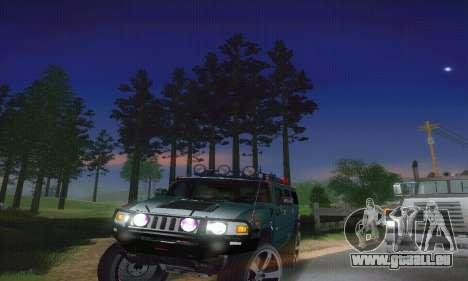 Hummer H2 Monster für GTA San Andreas Innenansicht