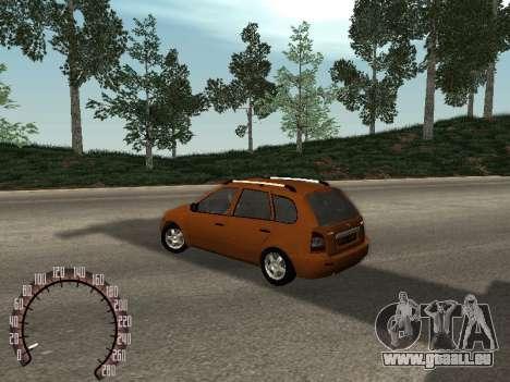 Lada 1117 Kalina pour GTA San Andreas laissé vue