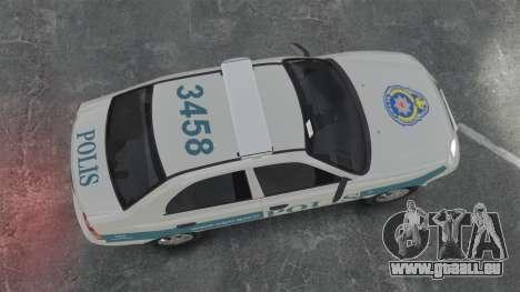 Hyundai Accent Admire Turkish Police [ELS] für GTA 4 rechte Ansicht
