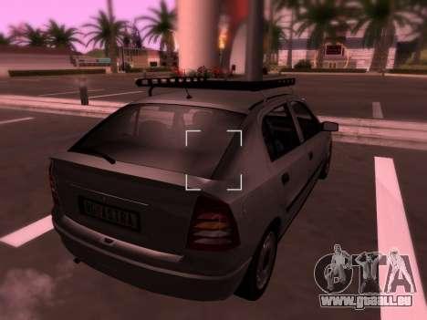 Opel Astra G pour GTA San Andreas salon