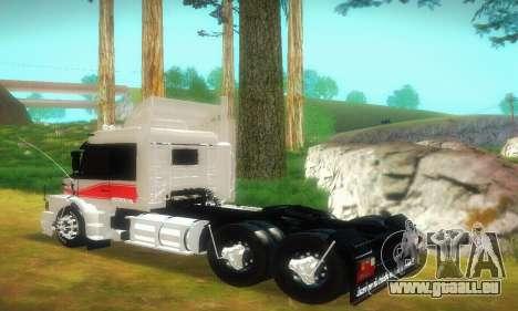 TopLine Scania 113 h 360 pour GTA San Andreas sur la vue arrière gauche