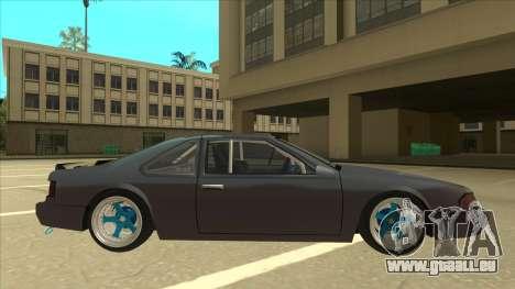 Fortune Drift pour GTA San Andreas sur la vue arrière gauche
