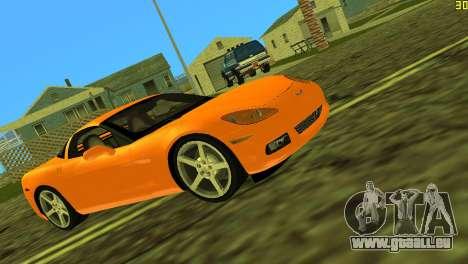 Chevrolet Corvette C6 pour GTA Vice City vue arrière
