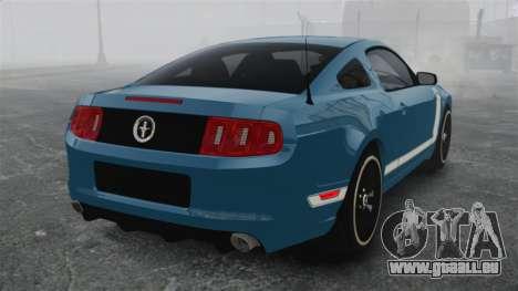 Ford Mustang BOSS 2013 pour GTA 4 Vue arrière de la gauche