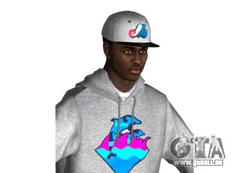 Raheem Sterling skin pour GTA San Andreas deuxième écran