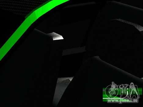 Lada Priora Carbon Lux für GTA San Andreas Innenansicht