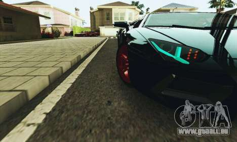 Lamborghini Aventador LP700 pour GTA San Andreas vue de dessus