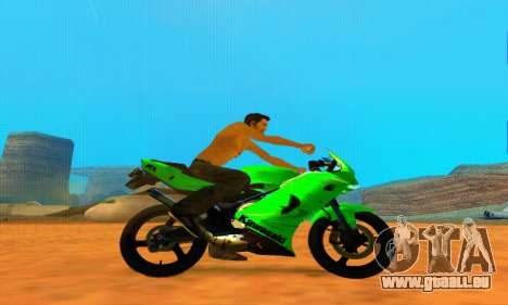 Kawasaki Ninja 150RR pour GTA San Andreas laissé vue