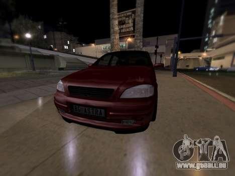 Opel Astra G für GTA San Andreas zurück linke Ansicht