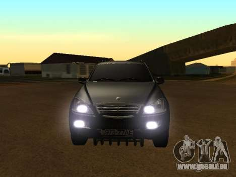 SsangYong New Kyron 2013 pour GTA San Andreas