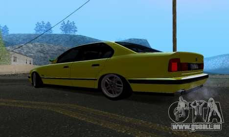 BMW M5 E34 IVLM v2.0.2 pour GTA San Andreas sur la vue arrière gauche