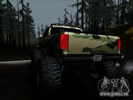 Camouflage pour Monster pour GTA San Andreas vue de droite