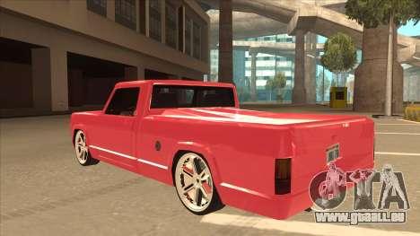 Modified Sadler pour GTA San Andreas vue arrière