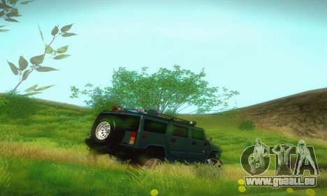 Hummer H2 Monster pour GTA San Andreas vue de droite
