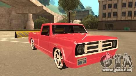 Modified Sadler pour GTA San Andreas laissé vue
