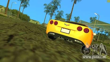 Chevrolet Corvette C6 pour une vue GTA Vice City d'en haut