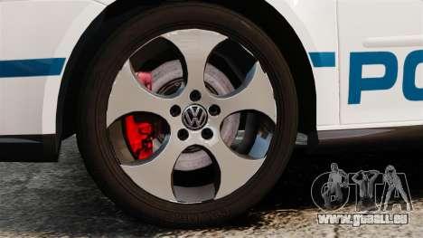 Volkswagen Golf 5 GTI Police v2.0 [ELS] für GTA 4 Rückansicht
