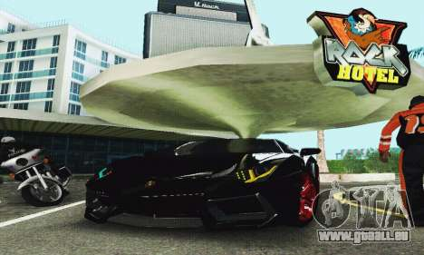 Lamborghini Aventador LP700 für GTA San Andreas Innenansicht
