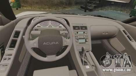 Acura NSX pour GTA 4 est une vue de l'intérieur