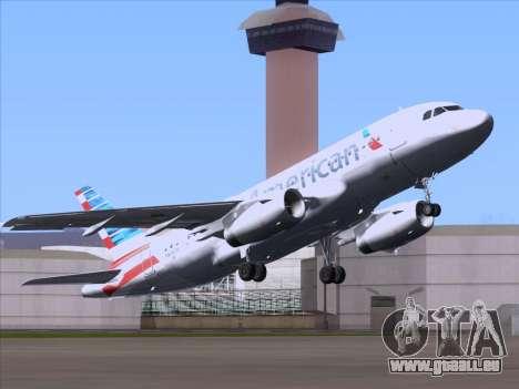 Airbus A319-112 American Airlines pour GTA San Andreas vue arrière