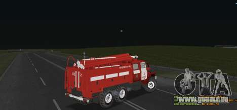 Ural 4320 pompier pour GTA San Andreas vue de droite