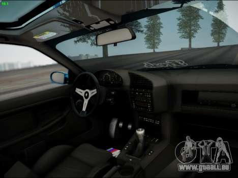 BMW M3 E36 Stance für GTA San Andreas Innenansicht