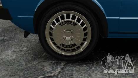 Volkswagen Golf MK1 GTI Update v2 pour GTA 4 Vue arrière