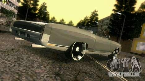 Chevy Monte Carlo pour une vue GTA Vice City d'en haut