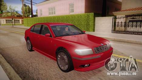 Geely xiongmao haohaoqing pour GTA San Andreas vue arrière