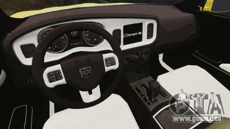 Dodge Charger 2011 Taxi pour GTA 4 Vue arrière