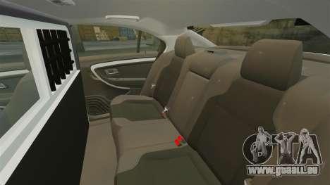 Ford Taurus 2010 Police Interceptor Detroit für GTA 4 Seitenansicht
