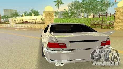 BMW M3 E46 Hamann pour GTA Vice City vue arrière