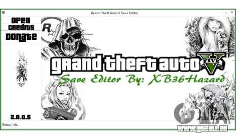 Grand Theft Auto V Save Editor by XB36Hazard pour GTA 5